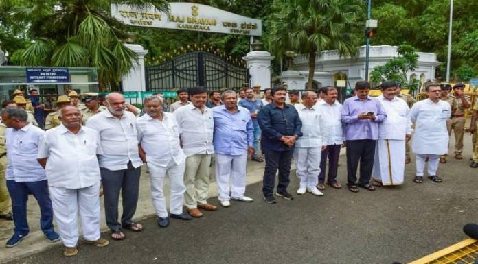 'Rebel' Karnataka Congress-JDS MLAs in the state