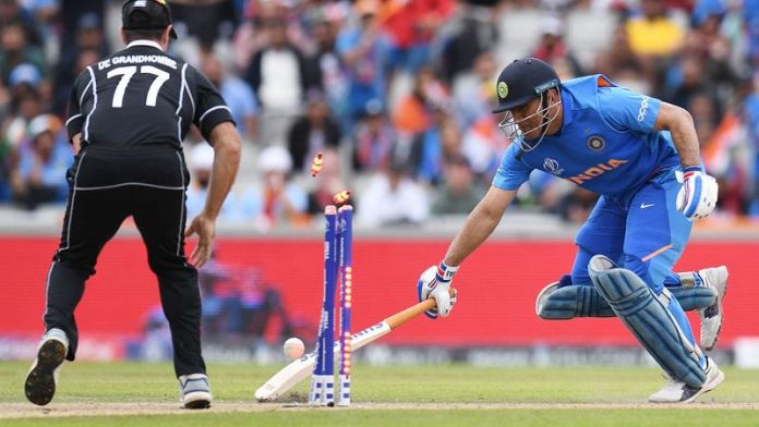 MS Dhoni run out against New Zealand in World Cup 2019 semi final