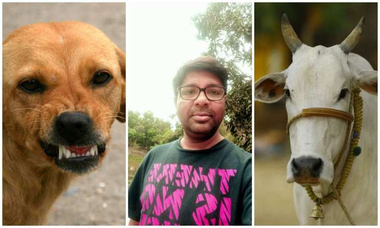 Bihar man unleashes his dog on cow, journalist invents Hindu-Muslim angle