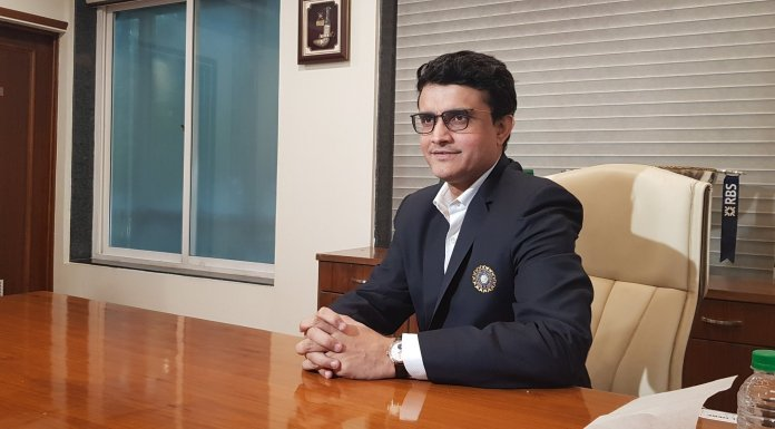 BCCI president Sourav Ganguly addresses a press briefing first time after assuming the charge