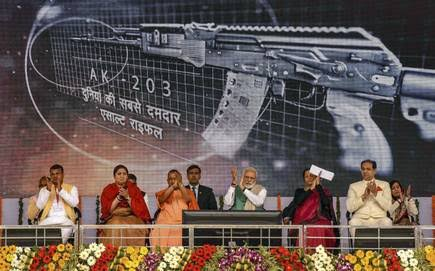Indo-Russian joint venture soon to produce 6.7 lakh assault rifles in Amethi