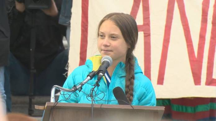 Greta Thunberg pins the blame on physics