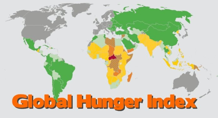 Global Hunger Index 2019 map