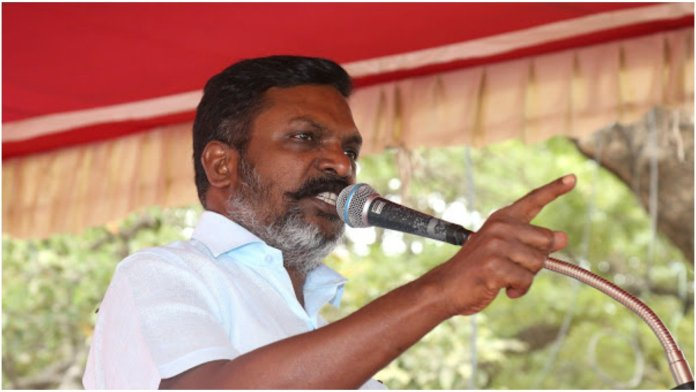 Congress-DMK supported leader of the VCK Thol Thirumavalavan insults Hindu temples, says they are the places with 'dirty idols'