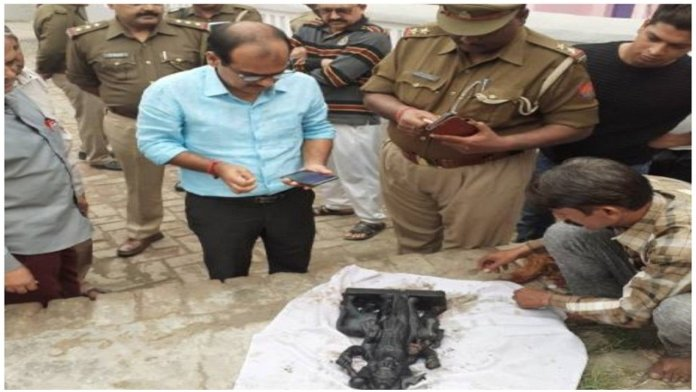 Shani Dev idol inside temple premises vandalised in Bulandshahr village