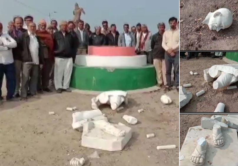 Gujarat: Mahatma Gandhi statue inaugurated by PM Modi broken in Congress stronghold Amreli