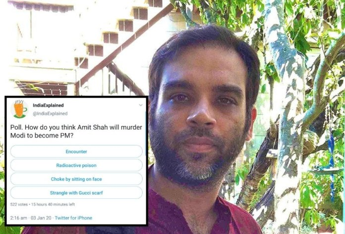 Delhi-based think tank pulls down essays of hate-monger Rohit Chopra alias 'IndiaExplained' for calling for PM Modi and Amit Shah's assassination