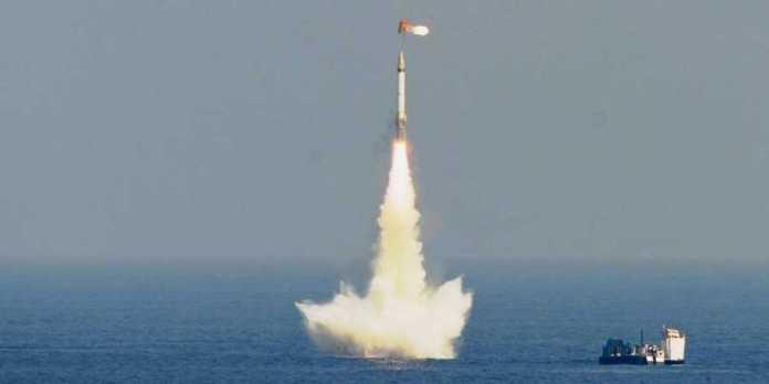 India test-fired 3500 km range SLBM K-4 from Bay of Bengal