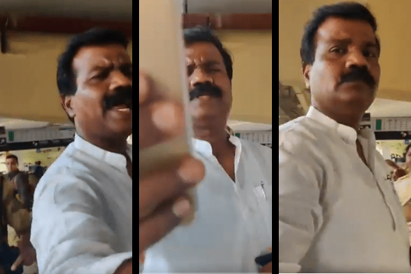 Congress Corporator Chavan Vikrant seen creating ruckus at metro station, misbehaves with female journalist