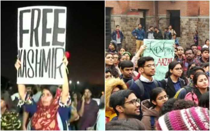 Free Kashmir posters seen in Delhi's St Stephen's college