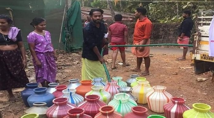 Seva Bharati has been supplying water to the Dalits in the area after the Muslim family denied
