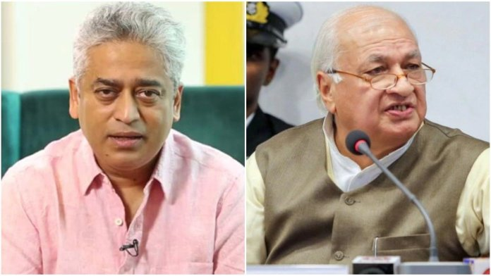Rajdeep Sardesai calls Arif Mohammad Khan a 'BJP agent' and 'rubberstamp', the Kerala governor shuts him up and how