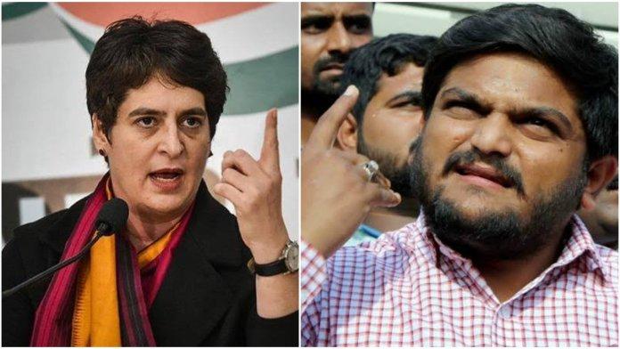 Priyanka Gandhi Vadra bats for Hardik Patel who was convicted for rioting, blames BJP for a court ordered arrest