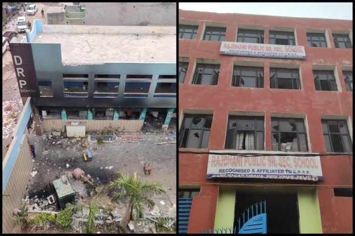 Shiv Vihar ground report: Tale of two schools, one owned by a Muslim used as a war room, the other, owned by a Hindu, gutted by Islamists during Delhi riots