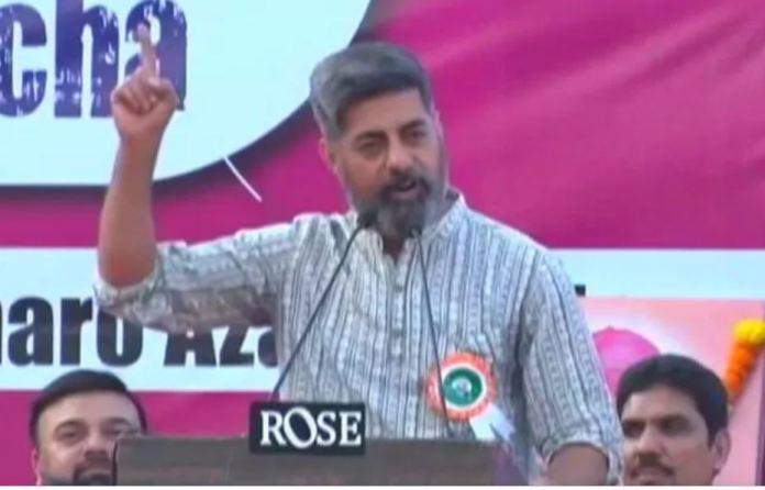 Sushant Singh spoke at an anti-CAA protest in Mumbai