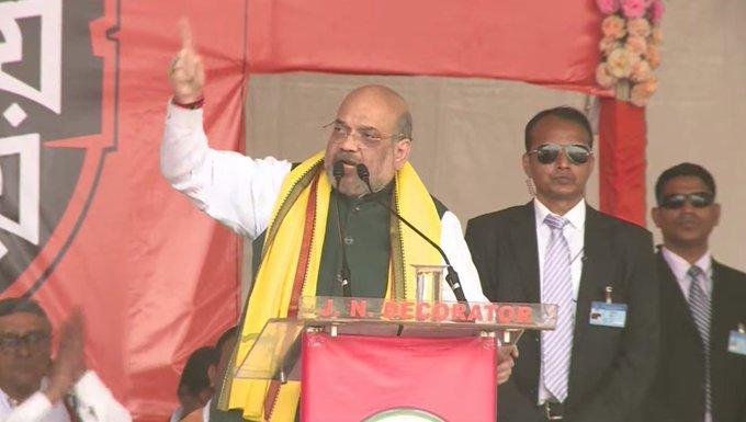 Amit Shah in Kolkata