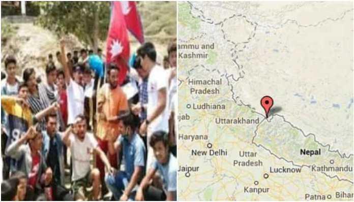 Nepali youth stop communist Nepalis from unfurling Nepal's flag at India's Lipulekh