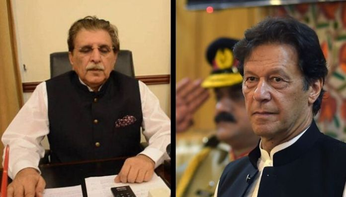 'PM' of Pakistan Occupied Kashmir tells Imran Khan to 'attack India'