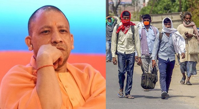Yogi Adityanath and Migrant Labourers