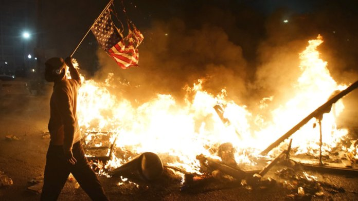 ISIS supporters are revelling the violent protests raging in the United States in the wake of George Floyd's murder
