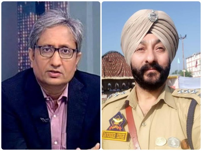 Ravish Kumar brazenly lies about the release of suspended police cop Davinder Singh to cast aspersions on country's police machinery