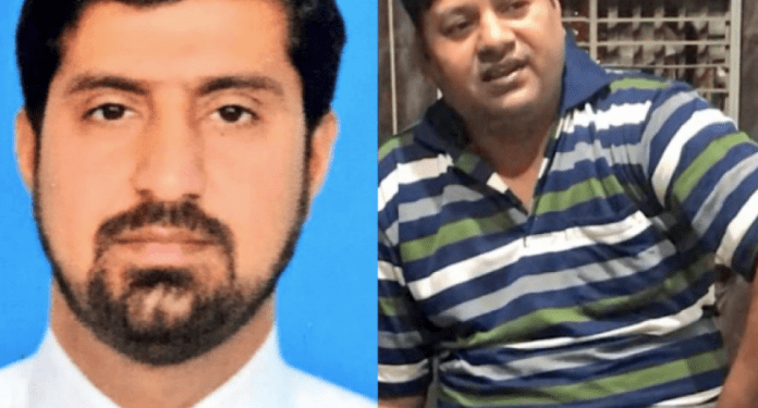 The two Pakistani spies caught by Indian officials in Delhi