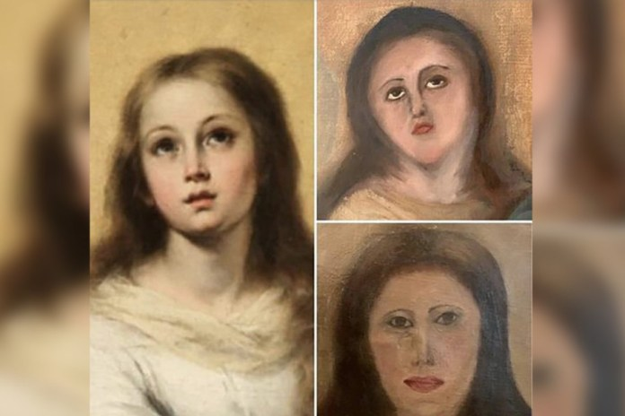 17th century Virgin Mary painting botched during restoration work