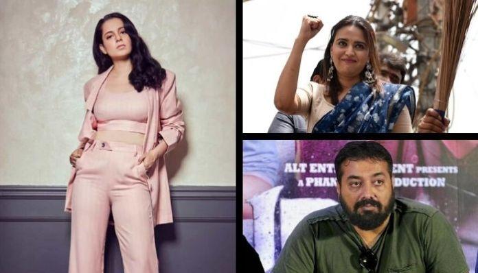 Actress Kangana Ranaut lambasts Swara Bhaskar and Anurag Kashyap