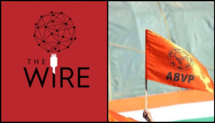 The Wire uses turncoat NCP worker to defame ABVP
