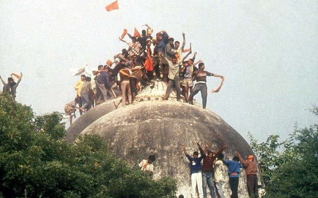 Lakhs of karsevaks stormed the fortified Ram Janmabhoomi premises and brought the disputed structure to ground on December 6, 1992
