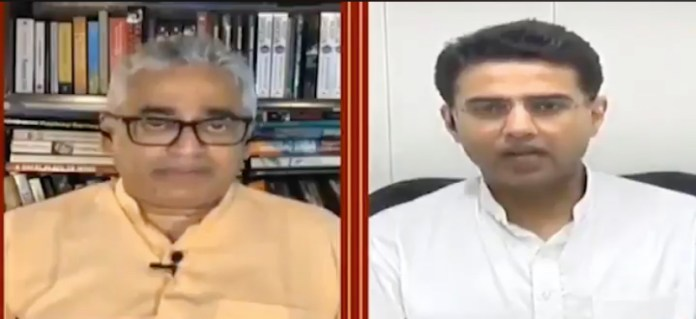 Congress leader Sachin Pilot slams Rajdeep Sardesai for insinuating his rebellion was sponsored by the BJP