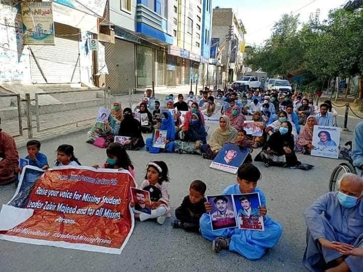Families of missing Baloch people protest on the Eid for the 10th year