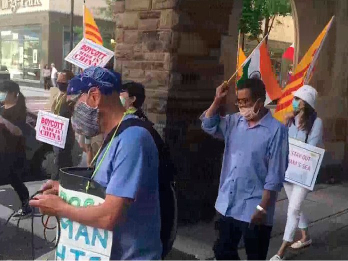 Anti-China protests in Canada, slogans raised against Chinese oppression
