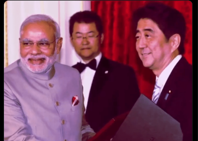 Congress depicts Shinzo Abe as Chinese President