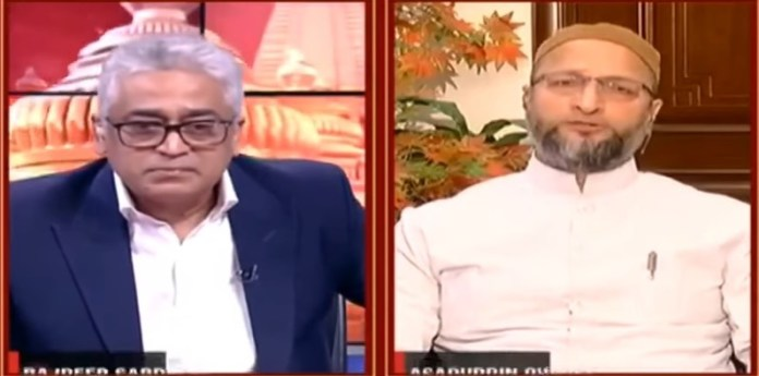 Rajdeep Sardesai was trolled on social media after Asaduddin owaisi went viral
