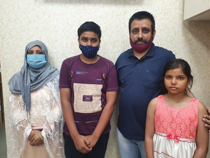Family of Tahir Hussain