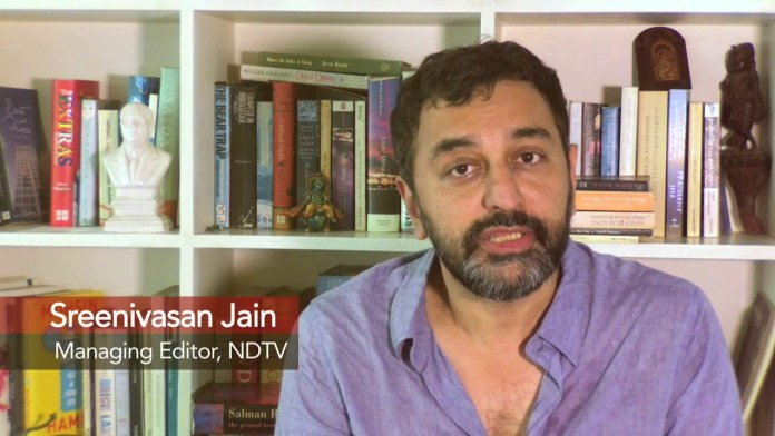 NDTV journalist Sreenivasan Jain agitated about Centre's alleged defence of its 'own people'