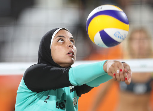 Muslim girl wearing a hijab during volleyball match banned from competing