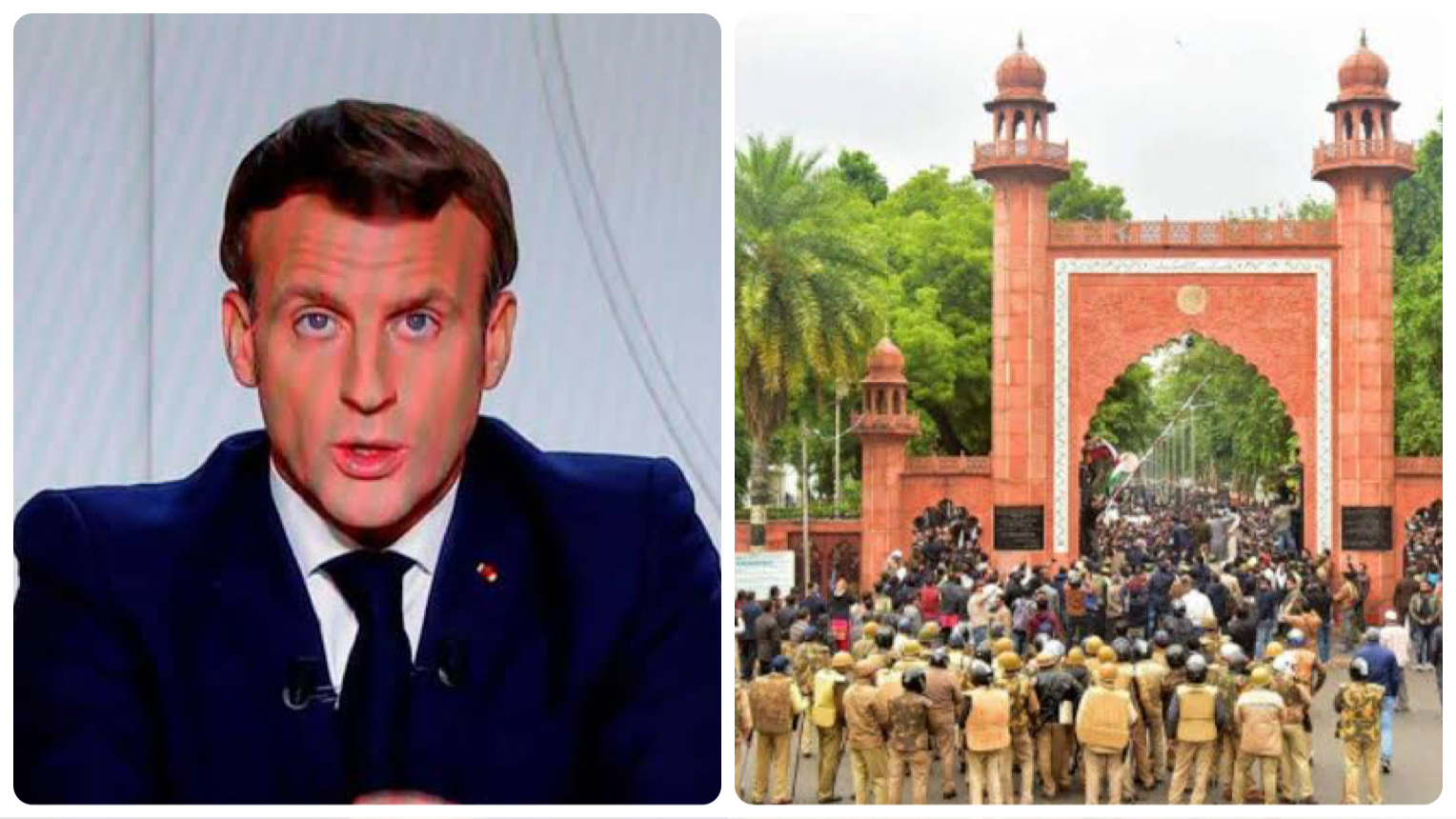 AMU organises protest against President of France for 'Islamophobia'