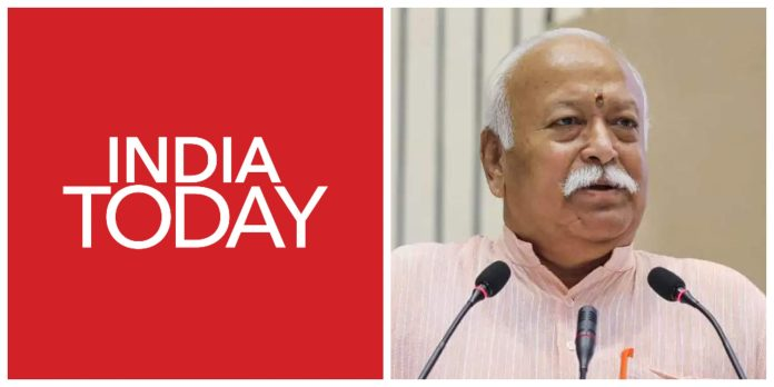 India Today misquotes Mohan Bhagwat in its tweet