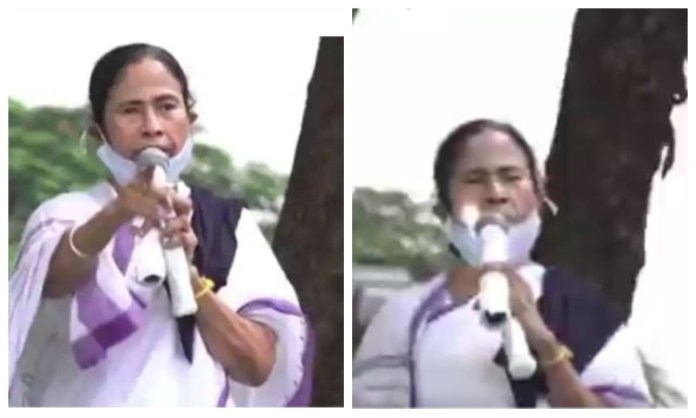 TMC calls Mamata Banerjee 'vaccine' against 'BJP pandemic' as she throws a torchlight inside her mouth for mysterious reasons