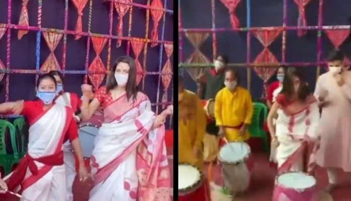Nusrat Jahan subjected to online vitriol by Islamists for celebrating Durga Puja