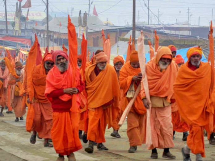 Sadhus protest in Rajasthan
