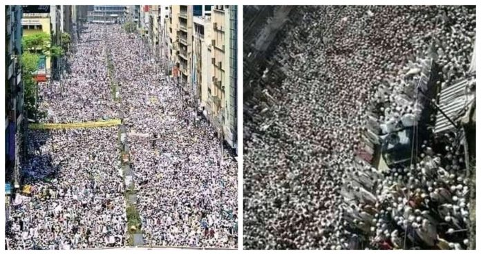 Thousands of Muslims gather on roads in Bangladesh to lay siege to French Embassy