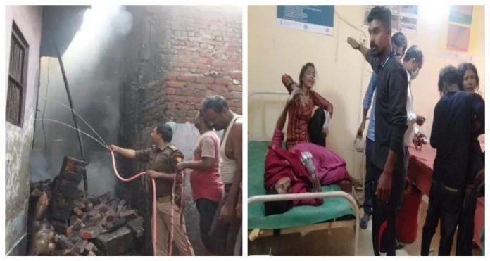 Blast in illegal cracker factory in Kushinagar