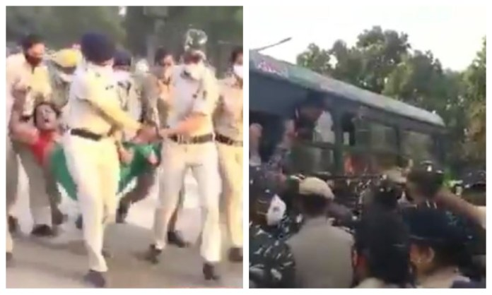 Sudarshan News' Janta March was disrupted by police