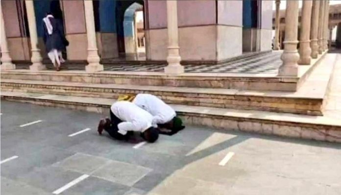 One Faisal Khan and Chand booked for reading Namaaz in Mathura temple