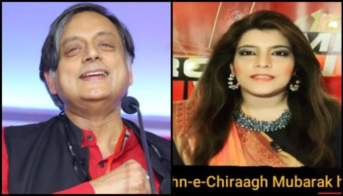 Theatre of absurd: Shashi Tharoor uses morphed image of anchor to wish 'Jashn-e-Chirag' on Diwali, anchor deletes original post and defends Tharoor