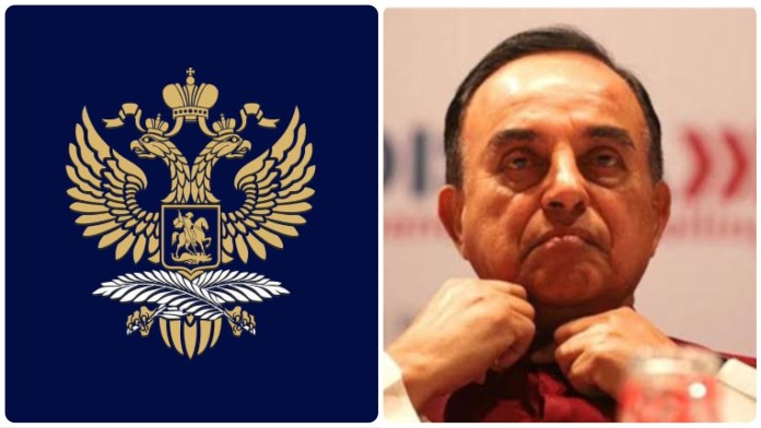 Russian Embassy expressed its regrets over Subramanian Swamy's article suggesting Russia cannot be trusted as India's close friend any longer