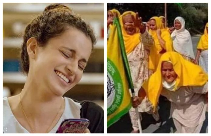kangana ranaut mistakes farmer protest woman with bilkis dadi